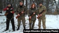 Леся Хомко серед оборонців України