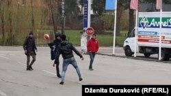 Migranti u Bihaću, krajem novembra 2018.