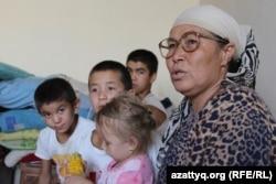 Шымкенттік көпбалалы ана Нағима Өскенбаева. Шымкент, 29 тамыз 2017 жыл.