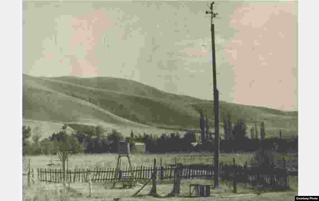 Метеоплощадка станции Джергитал. 1959 год.