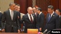 Президени США Барак Обама, Росії Володимир Путін та Китаю Сі Цзіньпін (фото архівне)