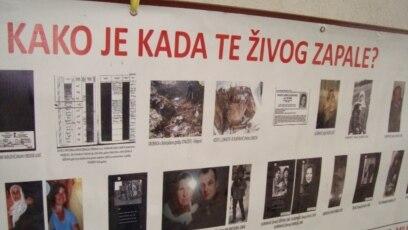 """Transparent sa 22-godišnjice od zločina poznatijeg kao """"Živa lomača"""", Višegrad, juni 2014."""