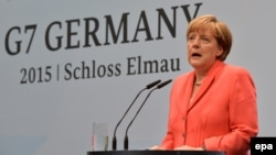 """Ангела Меркель рассказывает об итогах саммита """"Большой семерки"""""""