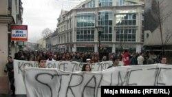 Sa protesta u Tuzli