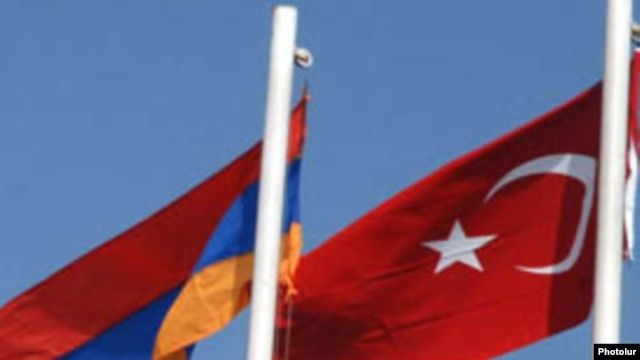 Armenian and Turkish flags