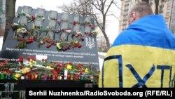 Ангели пам'яті. Тиха акція на Інститутській. Київ, 20 лютого 2018 року