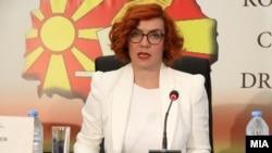 Прес-конференции на Државната изборна комисија (ДИК). Портпаролката на ДИК, Љупка Гугучевска.