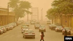 نمایی از آلودگی هوا در شهر اهواز