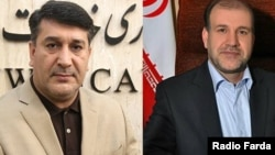 Fereydoun Ahmadi (R)and Mohammad Azizi(L), two Iranian parliamentarians detained on charges of corruption.