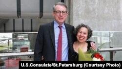 Генеральный консул США в Санкт-Петербурге Томас Лири с супругой Рейчел
