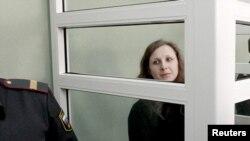 Мария Алехина в суде Березников