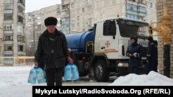 Люди в Торецьку на Донеччині, 14 січня 2018 року