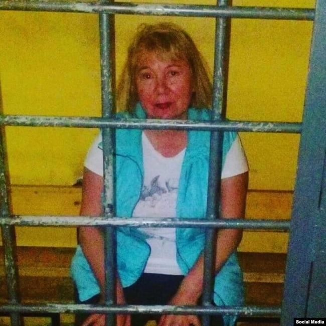 Татьяна Джинчвеладзе в полиции