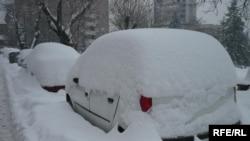 Sneg u Beogradu, 6. februar 2012.