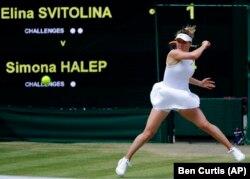 Еліна Світоліна під час гри у півфіналі Вімблдонського тенісного турніру. Лондон, 11 липня 2019 року