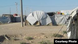 Суриядаги қочқинлар лагери.