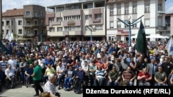 Bosnian Muslim wartime commander Atif Dudakovic's arrest in April sparked protests in Bihac. (file photo)