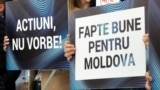 La mitingul pro-PDM la Chișinău
