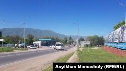 На въезде в село Шамалган. 29 мая 2019 года.