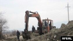 წყალმომარაგების არხის მშენებლობა სოფელ ნიქოზში