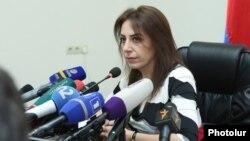 Председатель Комиссии по предупреждению коррупции Айкуи Арутюнян (архив)