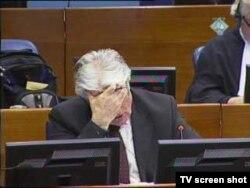 Radovan Karadžić u sudnici 15. veljače 2012.