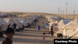 مخيم لنازحين قرب أربيل