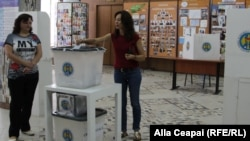 La secţia de votare de la Academia de Studii Economice