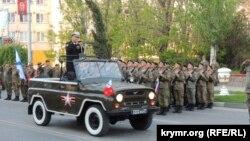 Репетиция военного парада в Керчи