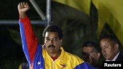 Венесуэладаги президентлик сайлови ғолиби деб эълон қилинган Николас Мадуро.