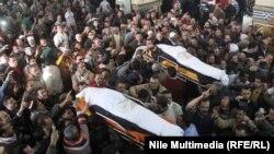 Похороны погибших при взрыве в Эль-Мансуре, 24 декабря