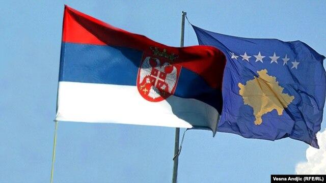 Zastave Srbije i Kosova