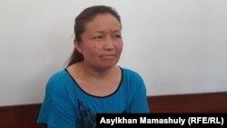 Этническая казашка из Китая Сайрагуль Сауытбай, обвиняемая в незаконном пересечении государственной границы, на суде по ее делу. Жаркент, 9 июля 2018 года.