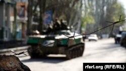 Славянск. 21 апреля 2014 года