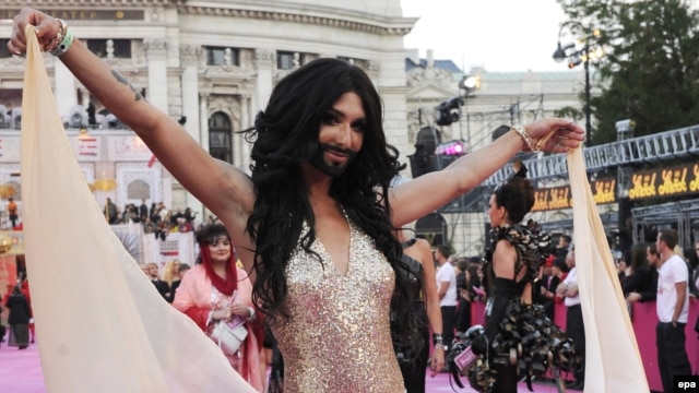 Austrian singer Conchita Wurst personifies what Russia hates about Europe -- except for the beard.