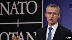 НАТО бас хатшысы Йенс Столтенберг. Брюссель, 1 желтоқсан 2015 жыл.