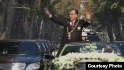 Эмомали Рахмондун инаугурациясында тартылган тасмадан, 16-ноябрь, 2013