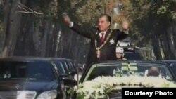 Расми савганди чоруми раёсатҷумҳурии Эмомалӣ Раҳмон. 13 ноябри соли 2013