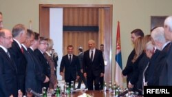 Preşedinţii Boris Tadic şi Dmitry Medvedev la Belgrad