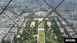 Փարիզյան տեսարան Էյֆելյան աշտարակից