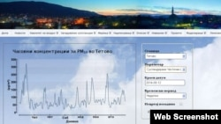 Загадувањето на воздухот во Тетово.