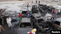 На місці одного з вибухів у Багдаді, 27 травня 2013 року