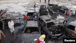 Բաղդադի փողոցներից մեկը պայթյուններից հետո, 27-ը մայիսի, 2013թ.