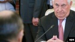 Рекс Тиллерсон на переговорах с Сергеем Лавровым