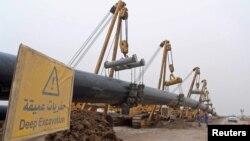 نمایی از خط لوله گاز ایران و عراق