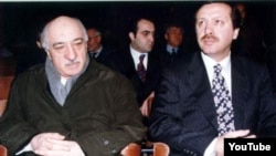 Gulen (left) helped President Erdogan come to power but they later fell out.