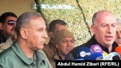 المؤتمر الصحفي لوزير الدفاع العراقي خالد العبيدي بعد زيارته لمحور مخمور - كوير جنوب اربيل