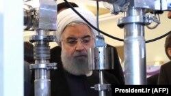 Президент Ирана Хасан Роухани на мероприятии в Национальный день ядерных технологий. Тегеран, 9 апреля 2018 года.