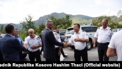 Predsednik Kosova Hašim Tači, prilikom obilaska prelaza Jarinje