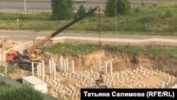 Строительство храма в Заречном, архивное фото